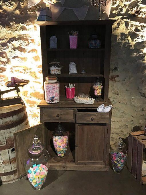 buffet-en-bois-candy-bar