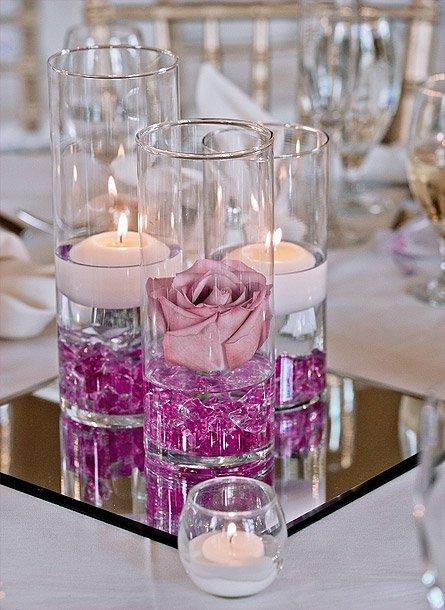 Vase Deco Fleur Eau Bougie Flottante 8cm