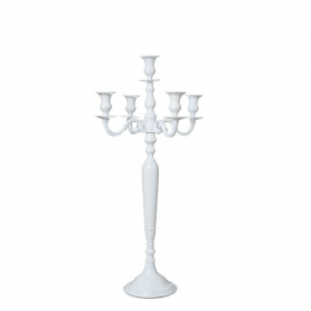 Chandelier 80cm Blanc Laque Location