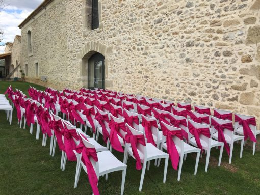 Pink Event Location Noeuds De Chaise