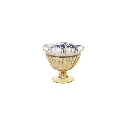 Vase Compotier Mercurise Dore