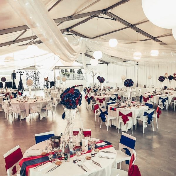 decoration mariage football bleu rouge blanc real madrid