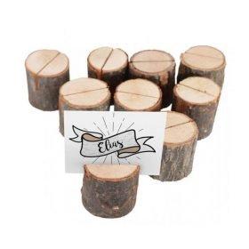 champetre set 9 marque place rondins bois dia 35cm x 32cm ht