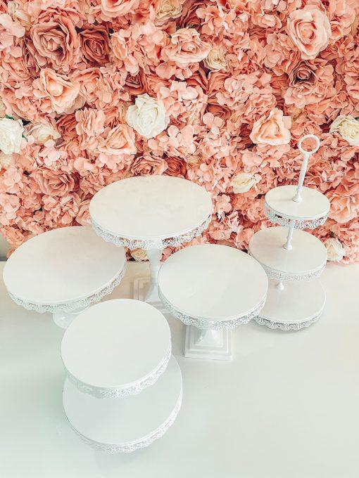 presentoir a gateaux etages blanc location pink event